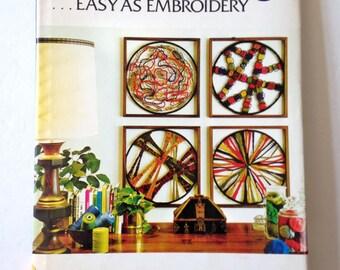 Modernist Design Needleweaving Book Vintage Craft Book Textile Arts Fiber Art Mandala DIY