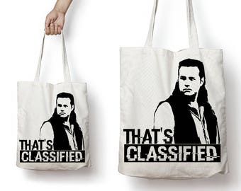 That's Classified The Walking Dead Eugene Reusable Canvas Tote Bag