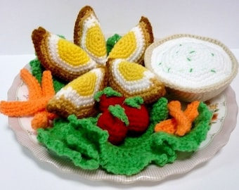Food Crochet Pattern Eggs Pattern PDF Instant Download Scotch Eggs Meal Set