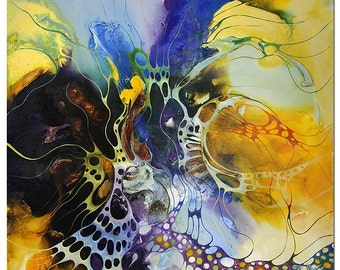 """Abstract Oil-painting, Original Art by BO The Artmakers : """"DYNAMIC COLOURS"""", Gallery of modern & contemporary  Art"""