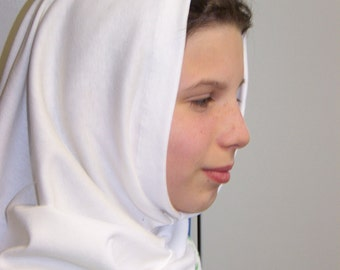 Wimple Nun Headcovering Accessory for Girls Costumes