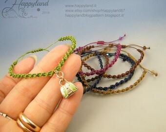 Day by day, 7 macramè adjustable bracelets