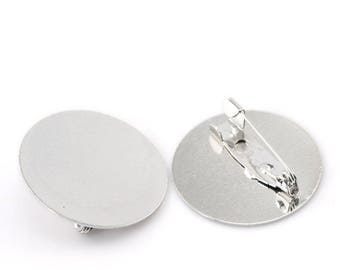 2 pin backings (pr 25mm) round tray