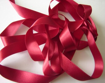 Ribbon red SATIN DOUBLE sided ¤ 350 cm