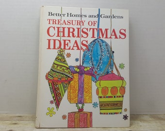 Treasury of Christmas Ideas, Better Homes and Gardens, 1966, christmas book, vintage book