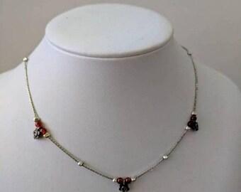 ON SALE Vintage Sterling Silver Floral Necklace