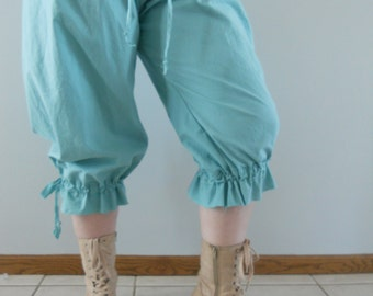 Beach Bum Bloomers from Sunwahsed Prairie pantaloons with cinch bottoms and a raw edge frill