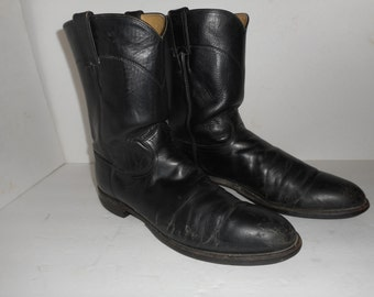 ON SALE Men's Justin Boots Motorcycle Work Western Pull Ups Size 12 A