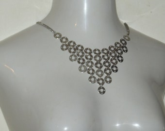 Washer Chainmaille Bib Necklace