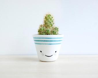 Ceramic succulent planter, Ceramic planter, Succulent planter, Ceramics & pottery, Flower plant pot, Ceramic plant pot, Ceramic planters TUR