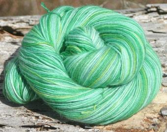 Handpainted Kid Sock Yarn - 20/55/25% Kid Mohair / Superwash Merino Wool / Nylon - Leprechaun