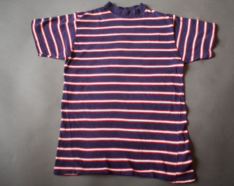 Vintage 1960s Striped Surfer T Shirt / 60s Surf Skateboarder Stripe Tee / Medium