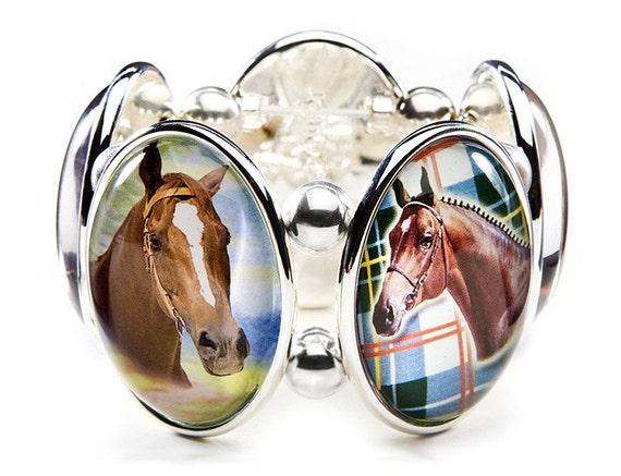 Horse Five-Cameo Stretch Bracelet