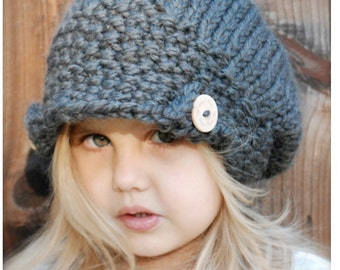 Knitting PATTERN-The Aralynn Slouchy (Toddler, Child and Adult sizes)