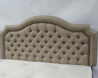 Hyde 3ft Single Headboard for bed in Oatmeal Linen Fabric