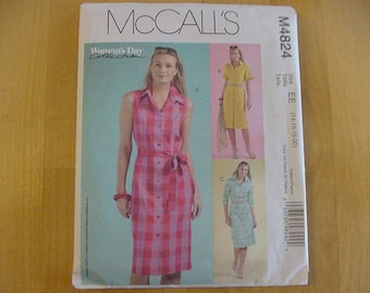Uncut 2005 McCall's Pattern M4824, Misses Button Front Dress, Variations, Woman's Day Collection,  Multi Size 14-20, Plus Size