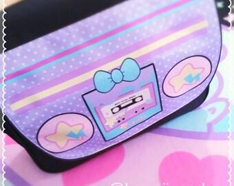 80s boombox Messenger Bag, Kawaii Boombox Messenger Bag
