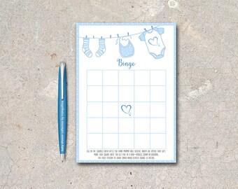 Baby Shower Bingo Printable, Baby Boy Bingo Game, Baby Shower Games, Printable Bingo Game, Boy Baby Shower games, Printable Bingo Cards
