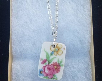 Broken China. Broken China necklace. Broken China jewelry. China jewelry