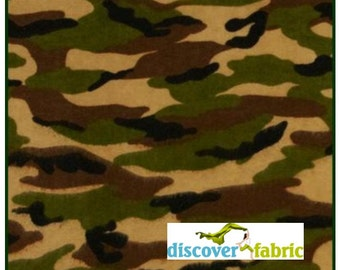 Camouflage Flannel Fabric A.E. Nathan Comfy Flannel Fabric