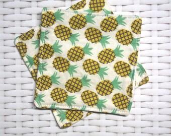 "Square cloth ""Zoli zanana"" white honeycomb and cotton"