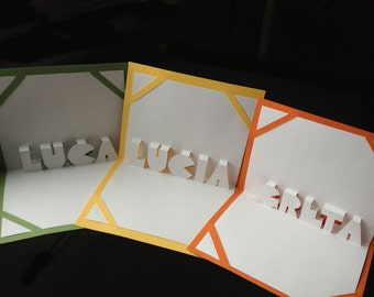 Pop Up Personalized Name Cards