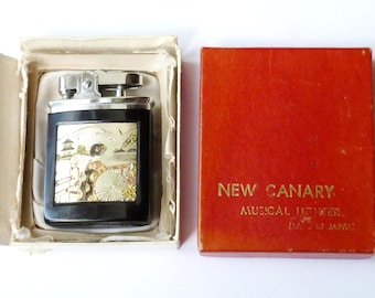 Vintage 'New Canary' Musical Petrol Lighter