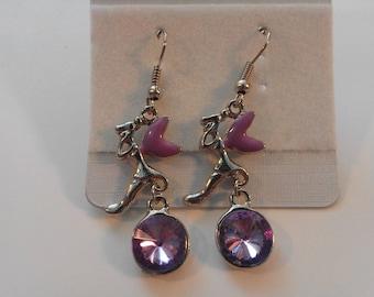 Purple Winged Fairy Earrings 249625