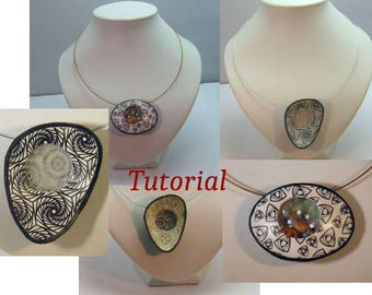 Window pendant tutorial made of polymer clay
