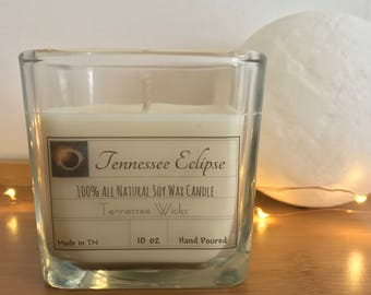 Tennessee Eclipse Scented 10oz Hand Poured 100% Natural Eco Friendly Soy Wax Candle, Home Decor, Handmade Candle, Handmade Soy Candle