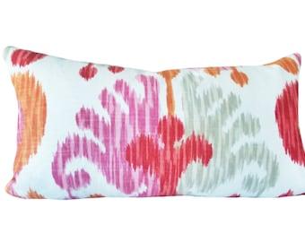 Braemore Pink Ikat Decorative Pillow Cover - Lumbar Pillow - Throw Pillow - Both Sides - 12x20, 14x18, 14x24, 14x30, 14x36