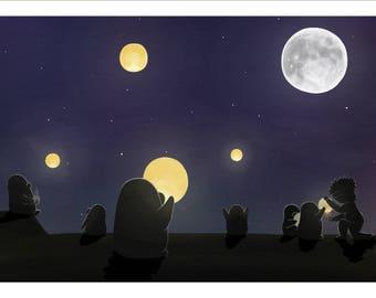 Lanterns, A5 Print