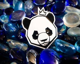 Pindabear: White Edition enamel pin