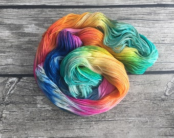 Why Is A Raven Like A Writing Desk ? - Hand Dyed Superwash Merino Nylon Yarn - Single Ply Bulky Yarn - Chunky Weight Yarn - Hand Dyed Yarn