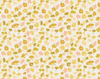 Delicate Femme Gold, Essentials II by Pat Bravo for Art Gallery Fabrics, ESS-II-355, Floral Gold Fabric
