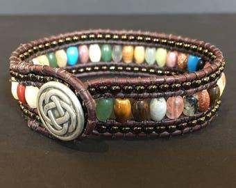 Boho style cuff bracelet