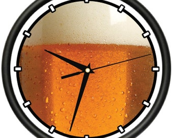 Draft Beer Wall Clock Keg German Beer Beer Snob Beer Lover Pub Drunk  Gift