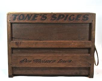 Vintage Tone's Spice Cabinet / Vintage Spice Rack / Industrial Table