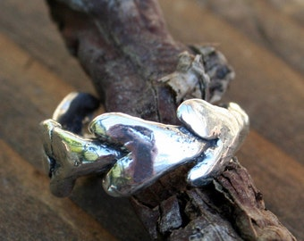 Ring Hearts All Around Artisan Sterling Silver .925 Heavy