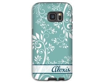 Floral Galaxy S8 case, vintage floral Galaxy Note 8 case, Galaxy S8 Plus case, , Galaxy S7 case, Galaxy S7 Edge case, 3D Galaxy case