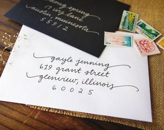 Envelope Calligraphy Addressing | Handwritten Addressing | Handlettered | Wedding Calligraphy | Wedding Envelopes | Invitation Envelopes