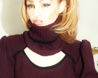 Sweater wool blend, tunic, sweater for women