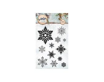 StudioLight Winter Feelings nr.235 snowflake Clear stamp
