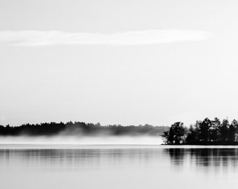 Contemporary Landscape Wall Art - Monochrome Photography -  Black and White Photo - Minnesota Home Decor - Fine Art Print