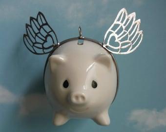 Precious Moments Flying Pig