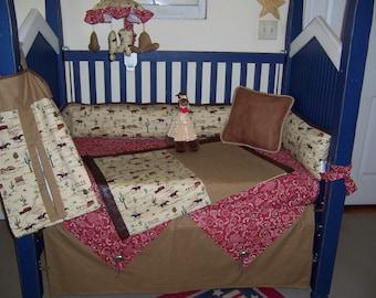Wild West 4 piece custom bedding