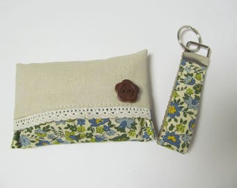 Set Of Tissue Case And Keychain
