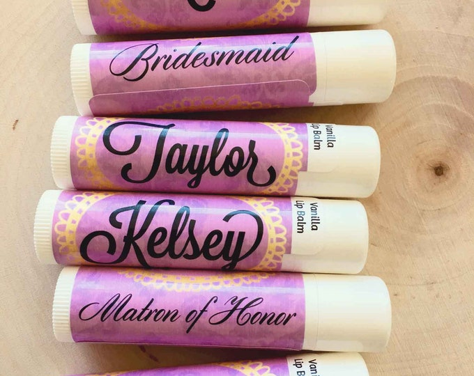 Bachelorette Lip Balm, Bachelorette Party Favors, Bridal Party Personalized lip balms, Survival Kit Lip Balms, Wedding Favors, Bridal Party