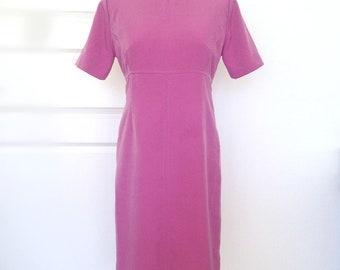 Vintage silk women's dress, Scandinavian design