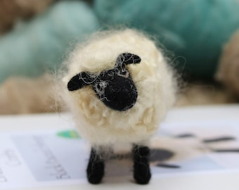 Sheep needle felting kit, Needle felting starter kit, Sheep gift, Mother's Day gift